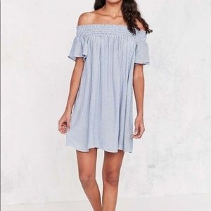 Urban Outfitters Off the shoulder mini dress